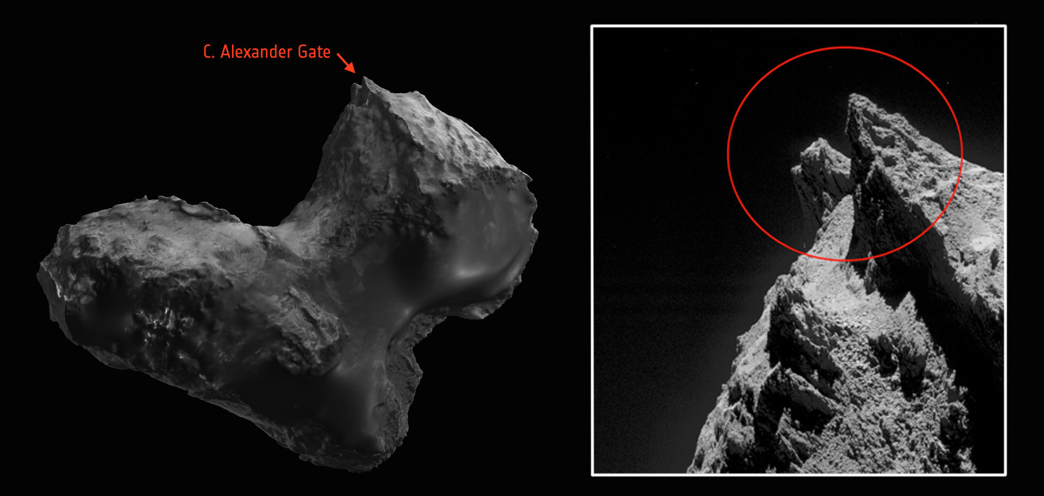 Rosetta Team Names Comet Features for Lost Colleagues