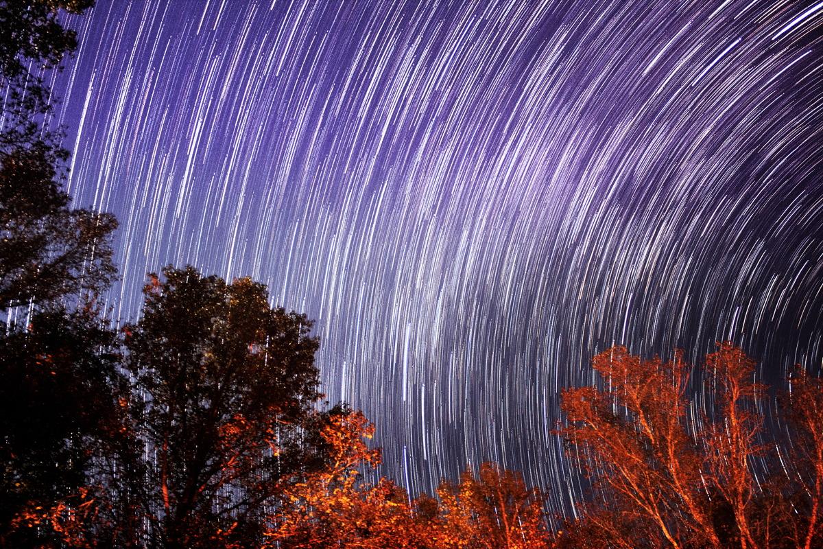 Star Trails Over Alabama