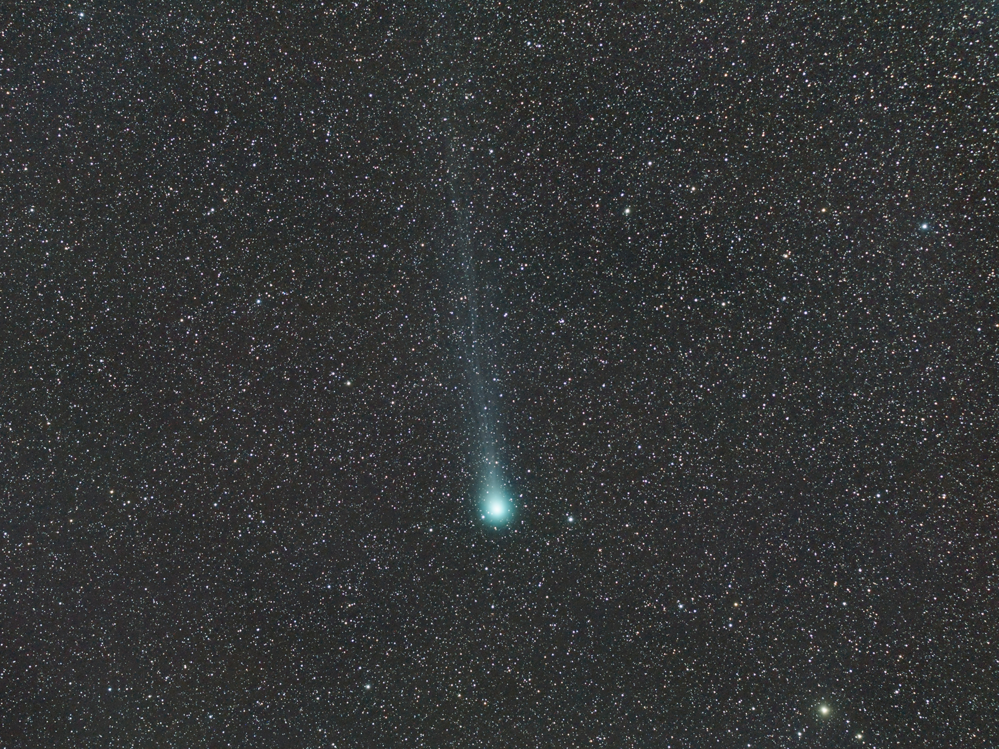 Comet Lovejoy Seen from France