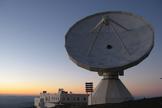 The IRAM 100-foot (30 meters) radio telescope in Spain's Sierra Nevada mountain range.
