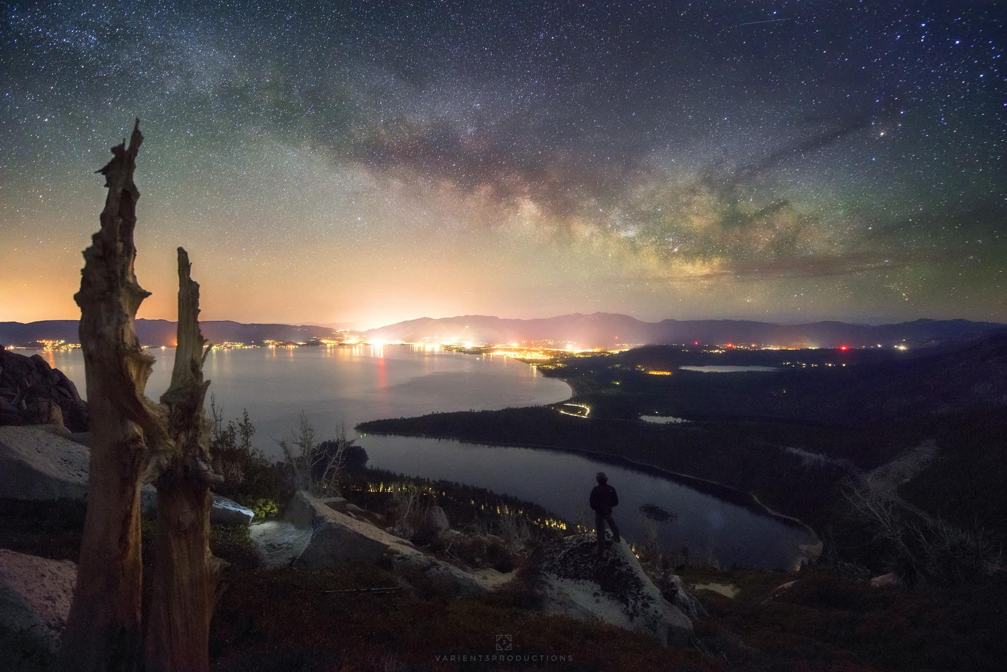 Milky Way Over South Lake Tahoe