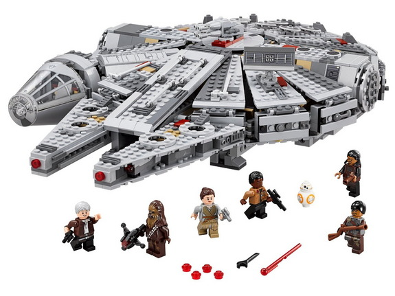 "Your new Lego chariot awaits: The ""Star Wars: The Force Awakens"" version of Han Solo's Millennium Falcon can definitely still make the Kessel Run in less than twelve parsecs, and comes with lots of cool detail and moveable features. <a href=""http://www.amazon.com/LEGO-Millennium-Falcon-75105-Building/dp/B00WI0PJE2/?&tag=space041-20"">Buy Lego Star Wars Millennium Falcon 75105 Building Kit</a>"
