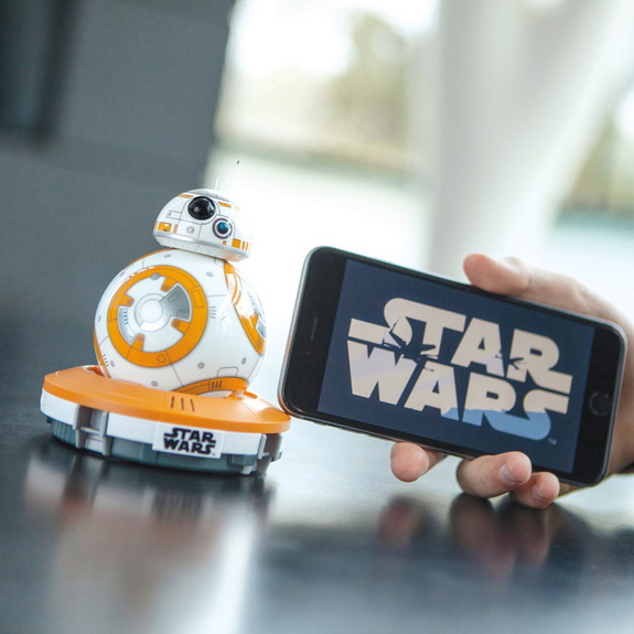 "The Sphero BB-8 droid is definitely the app-controlled droid you're looking for.  <a href=""http://www.amazon.com/dp/B0107H5FJ6?tag=space041-20&ascsubtag=[sitespace[catNA[art27791[pidB0107H5FJ6NA[bbcmanual"">Buy Sphero BB-8 App-Enabled Droid Here</a>"
