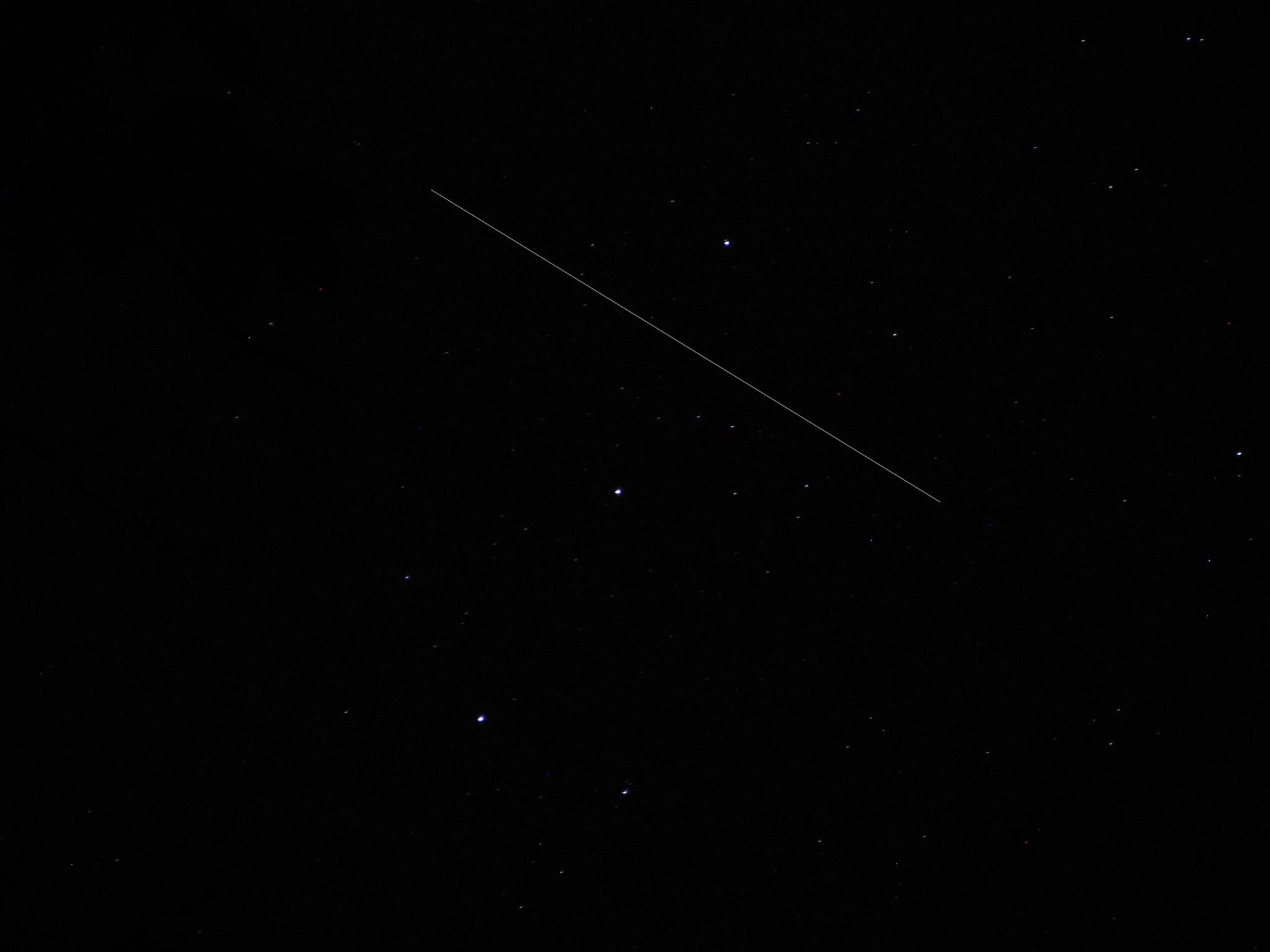 ISS Streaking Through Orion's Belt