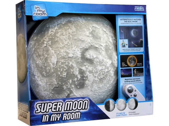 "Track the moon's phases and explore its mystery with this bedroom-wall lamp. <a href=""http://www.amazon.com/dp/B00X5CC828?tag=space041-20&ascsubtag=[sitespace[catNA[art27797[pidB00X5CC828NA[bbcmanual"">Buy Super Moon in My Room</a>"