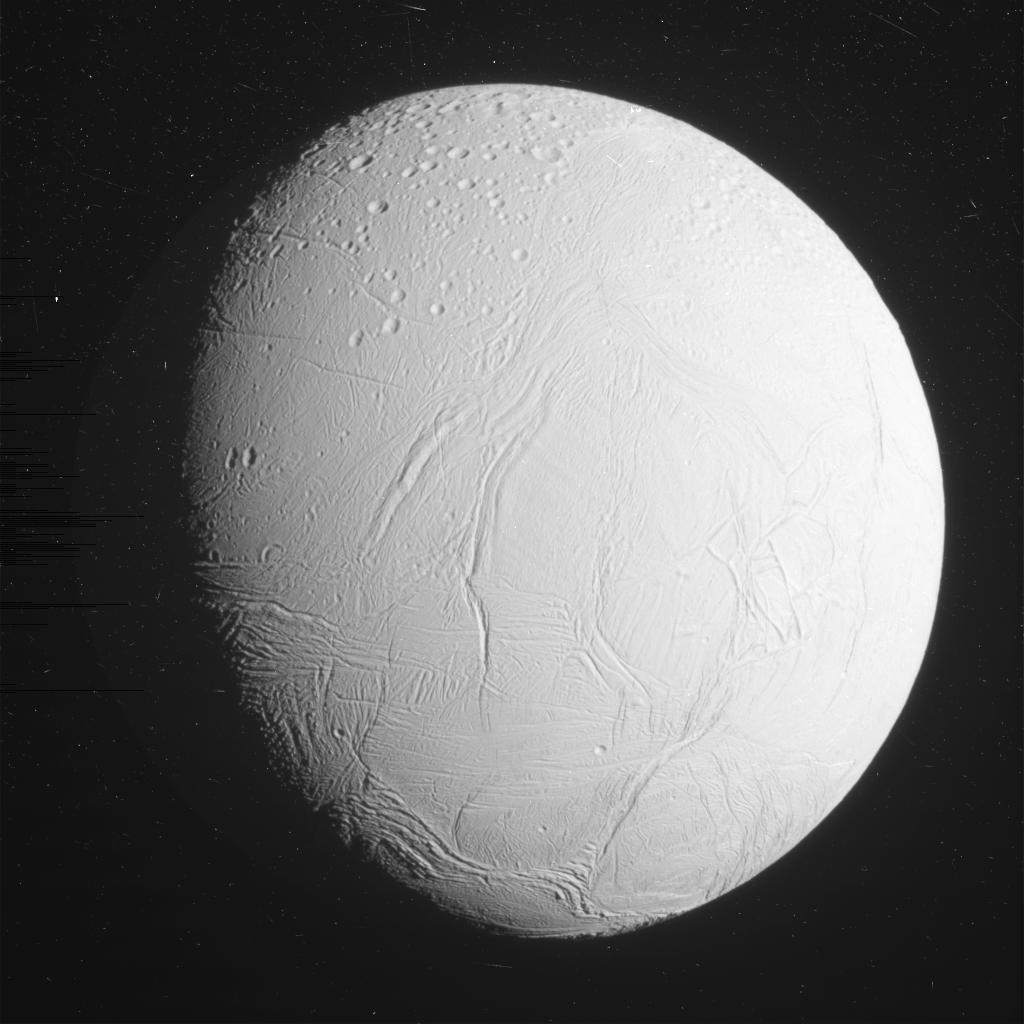 Enceladus Flyby: See Cassini's Close-up Photos of Icy Saturn Moon