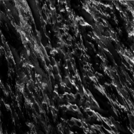 Close-Up of Saturn's Moon Enceladus