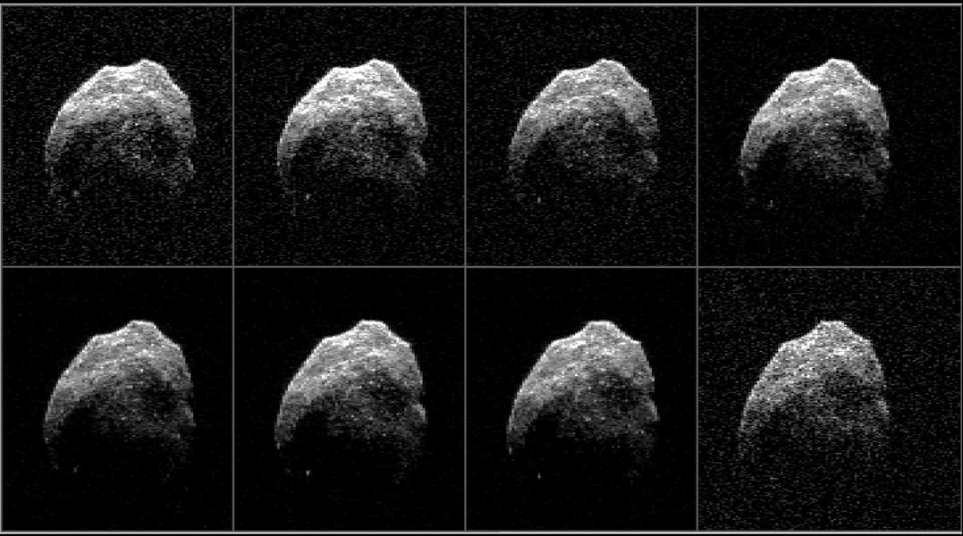Radar Images of Halloween Asteroid