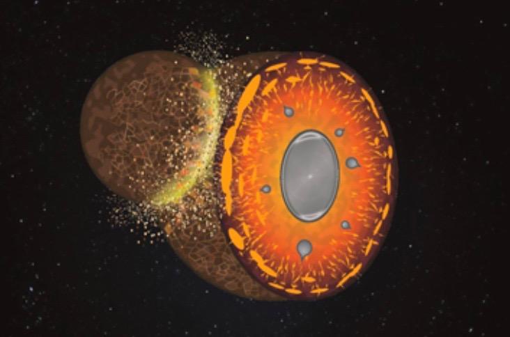 Cosmic Crash on Ancient Earth