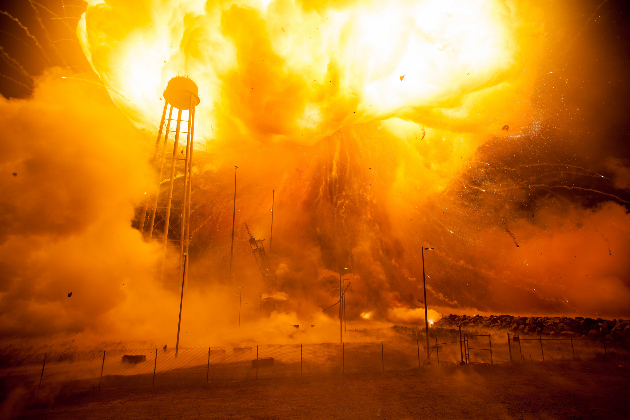 Intense Antares Rocket Explosion Shown in Newly Released NASA Photos