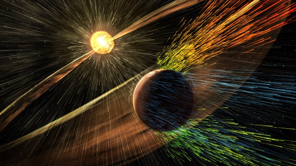 Mars Lost Atmosphere to Space as Life Took Hold on Earth