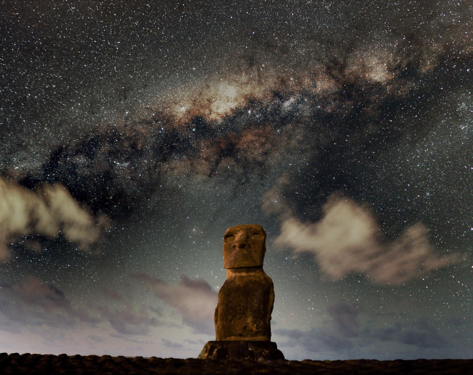 Galactic Center Over Ahu O'rongo