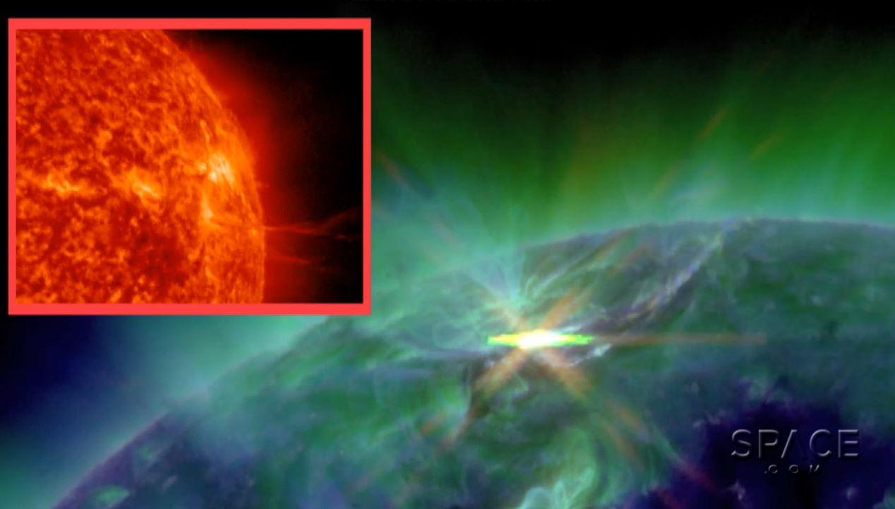 Solar Flare AR2443