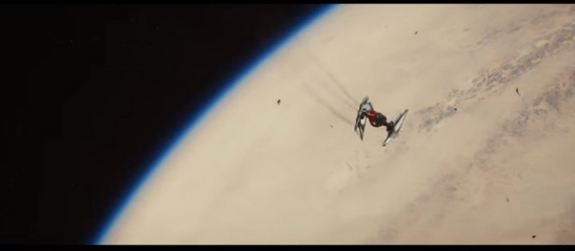 "A still from the domestic ""Star Wars: The Force Awakens"" Trailer features a shot from space above the planet Jakku. Credit: Lucasfilm/Bad Robot Productions"