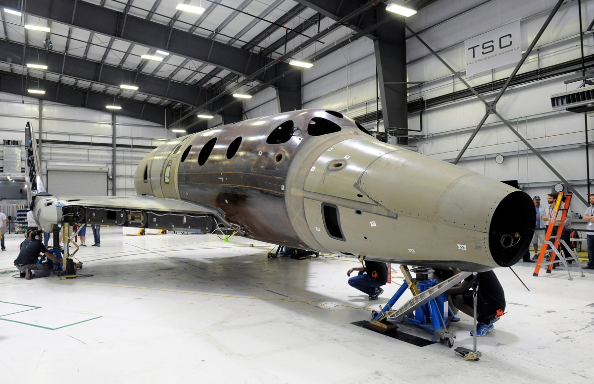 Virgin Galactic's Second SpaceShipTwo Spaceliner in Pictures