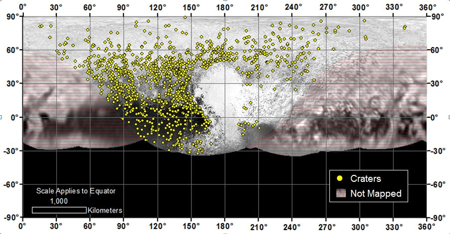 Pluto Crater Counts