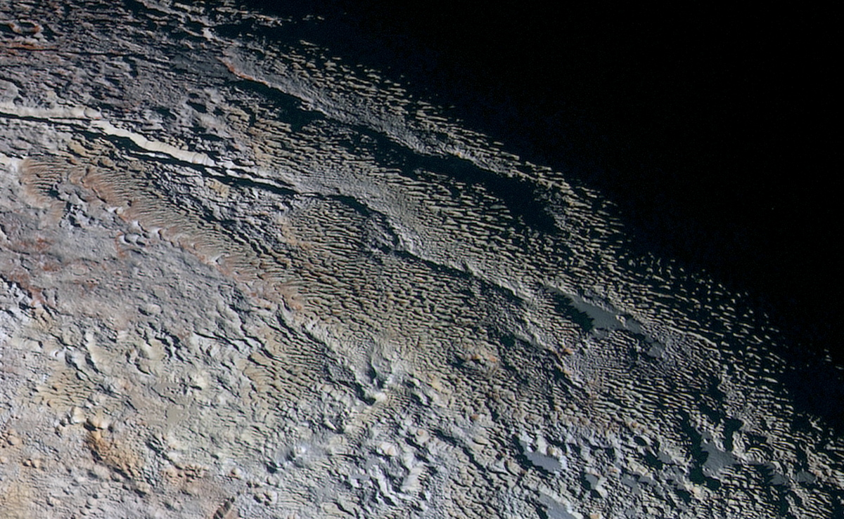 Snakeskin Ridges on Pluto