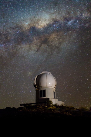 This photo shows the SkyMapper telescope at Siding Spring Observatory in Australia, which scientists used to observe more than 5 million stars in a survey that found evidence of the oldest stars in the Milky Way.