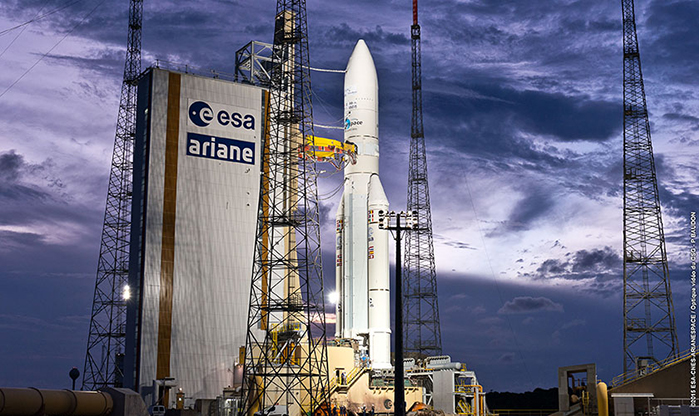 Ariane 5 on Launch Pad