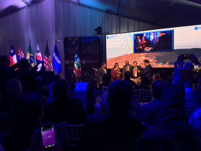 Chilean President Michelle Bachelet at GMT Groundbreaking