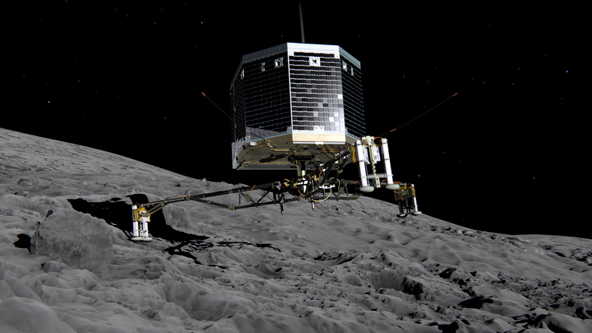 Wild, History-Making Comet Landing By Philae Probe Recreated in Video