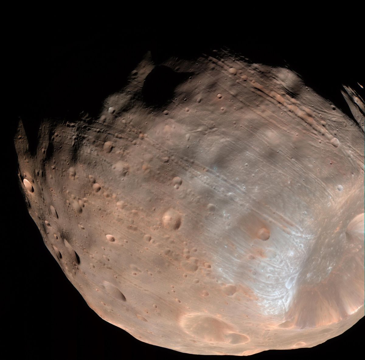 Grooves on Mars' Moon Phobos