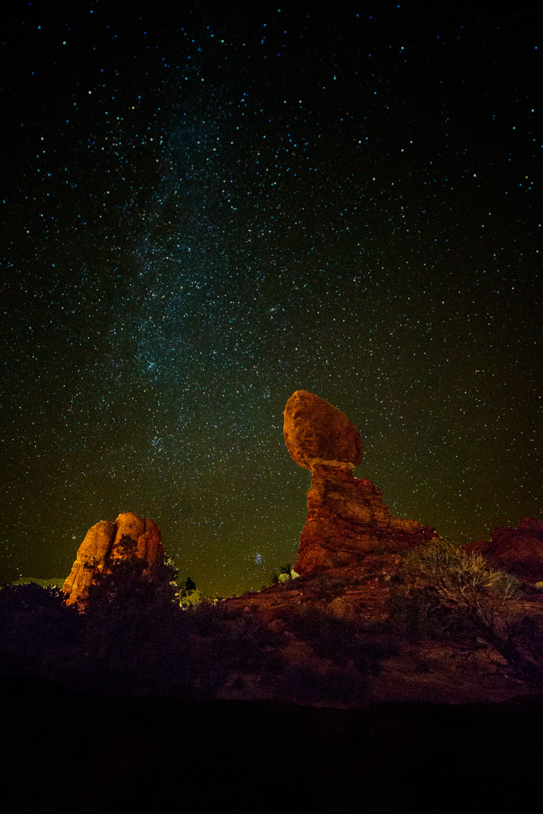 Night Sky Over Balanced Rock