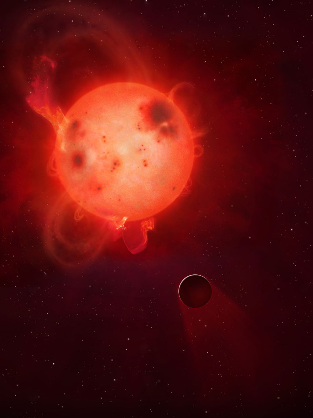 Exoplanet Kepler-438b's Atmosphere Stripped Away