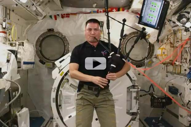 Bagpipes Played In Space For First TIme | Video