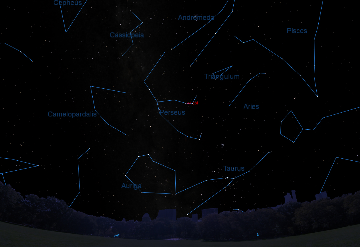 Algol Sky Map November 2015
