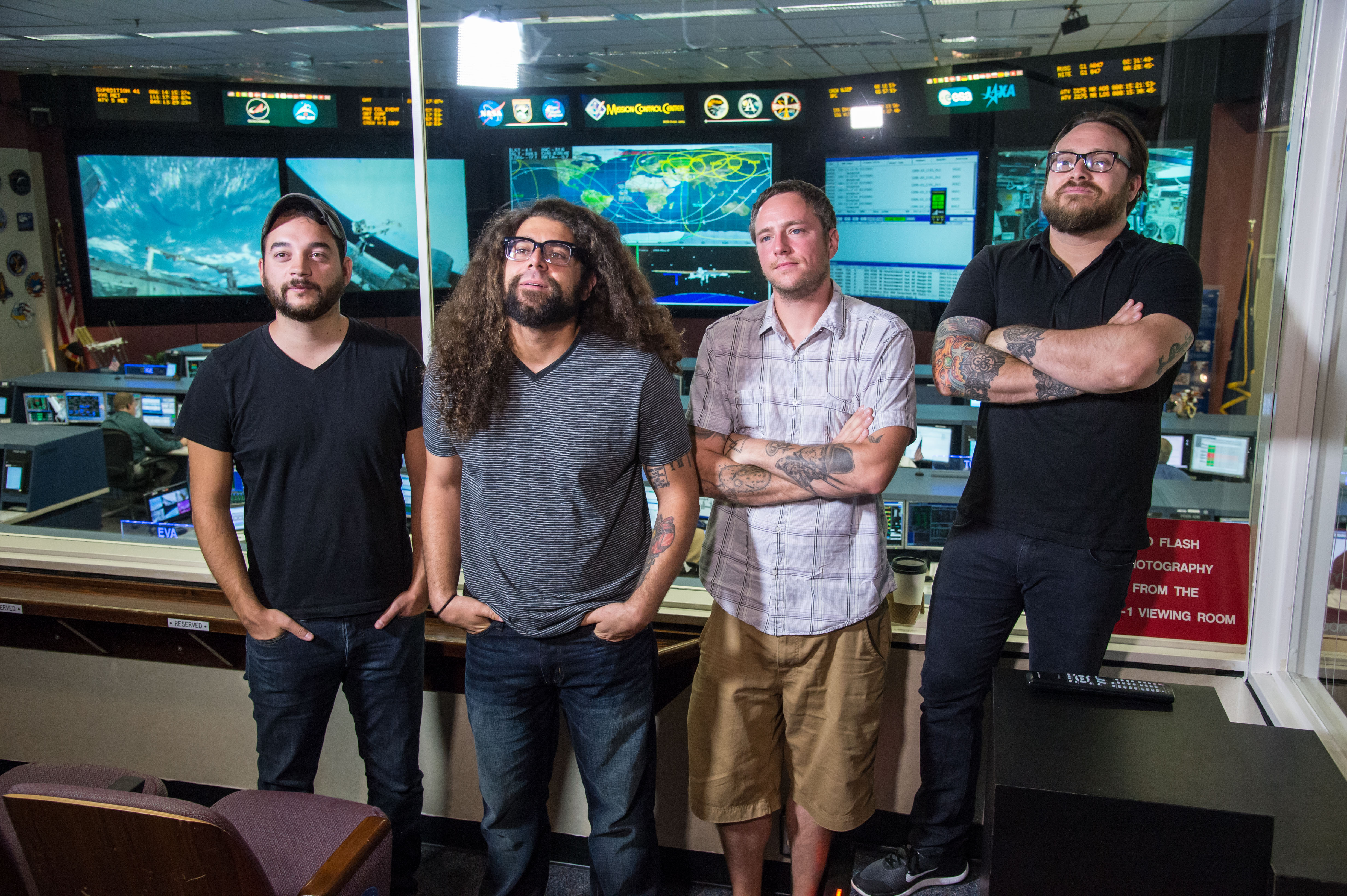 Rockers Coheed and Cambria Explore Space Tech at NASA JSC: Gallery