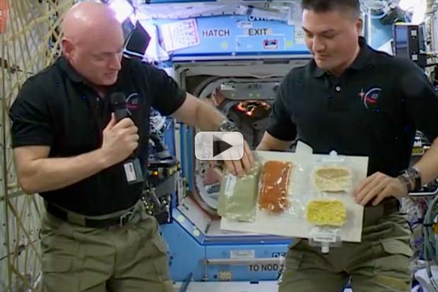 Gobble Gobble In Space! What's On ISS Thanksgiving Menu? | Video