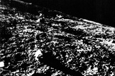The first image from the surface of the moon relayed to Earth via the former Soviet Union's Luna 9 lander on Feb. 3, 1966.