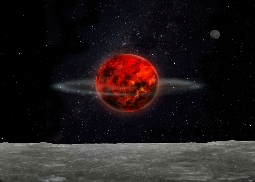 Massive Rocks May Explain Moon's Mysterious Tilt