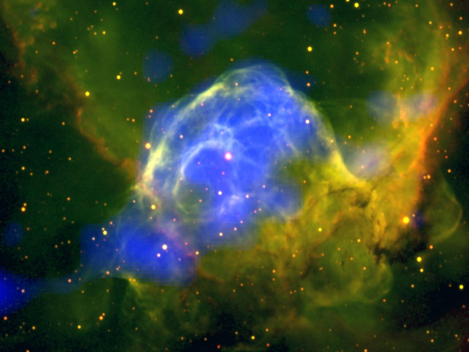 Thor's Helmet Nebula Glows Brightly | Space Wallpaper