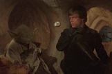 "Luke Skywalker and one of his Jedi teachers, Yoda, in ""Star Wars: Episode VI – Return of the Jedi."""