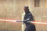 "The villain Darth Maul in ""Star Wars: Episode I – The Phantom Menace."""