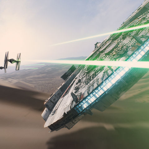"""The Millennium Falcon returns in """"Star Wars: The Force Awakens,"""" the newest installment in the """"Star Wars"""" movie franchise."""