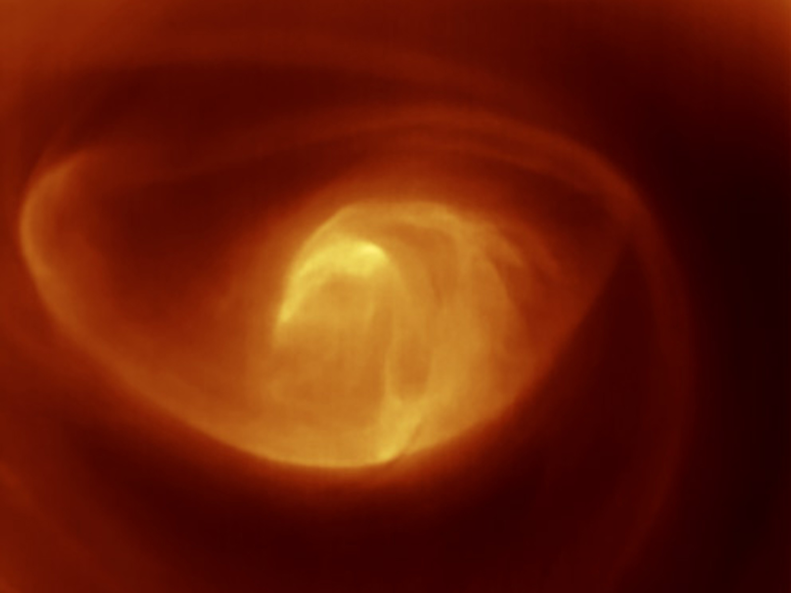 Swirling Vortex on Venus Caught in Action | Space Wallpaper