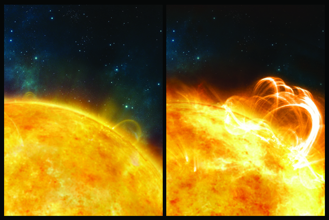 Artist's Illustration of Solar Superflare
