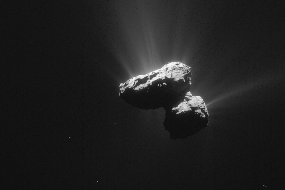 Comet 67P Tumbles Through Space Image