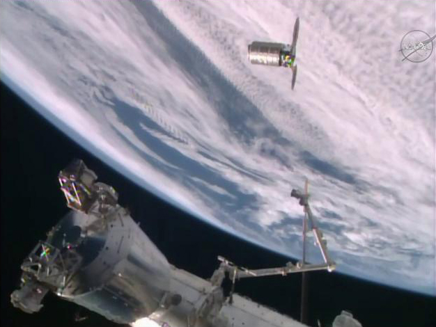 Orbital ATK's Private Cygnus Supply Ship Arrives at Space Station