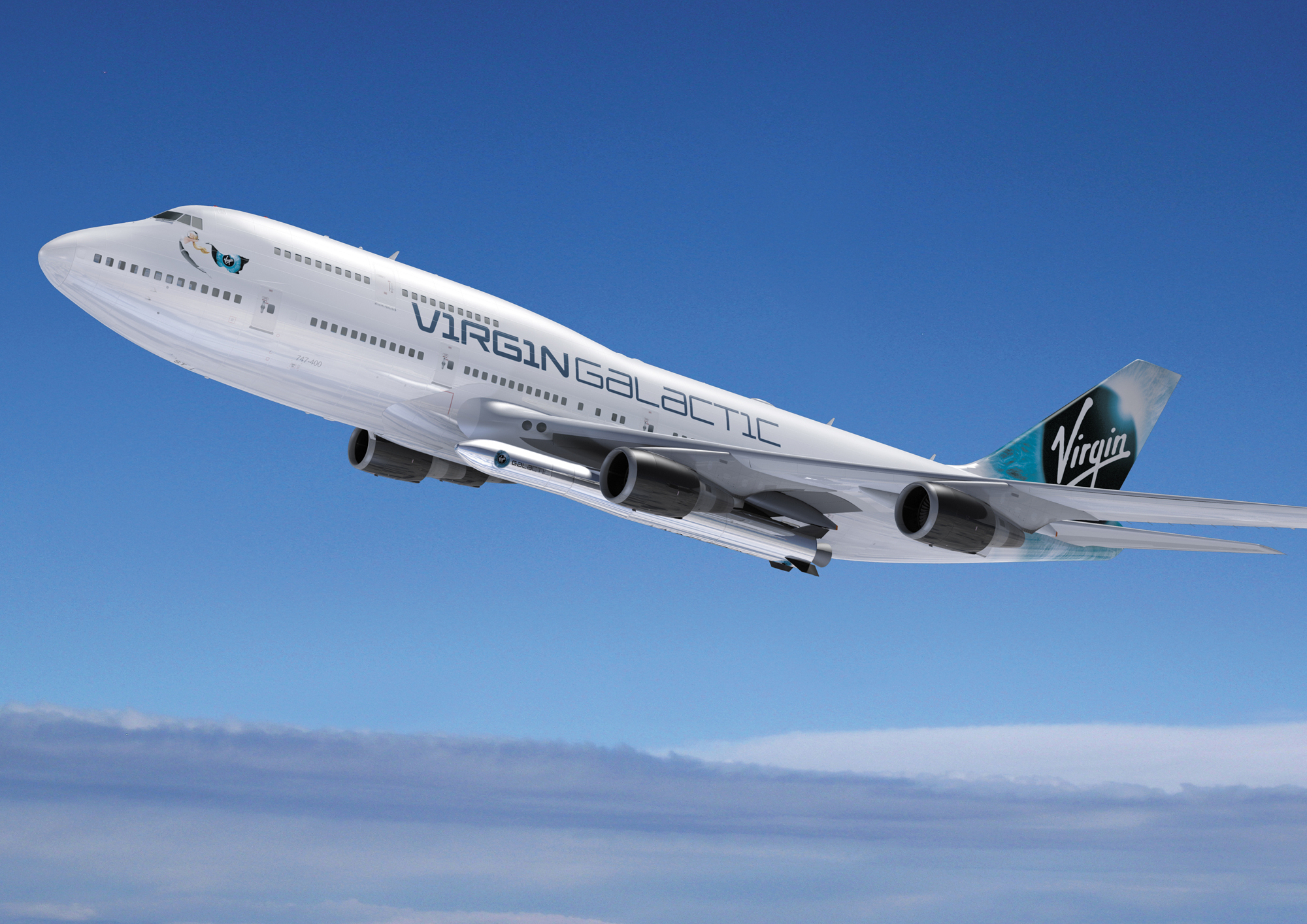 "Virgin Galactic will launch small satellites into space from ""Cosmic Girl,"" a 747 jumbo jet that will serve as an aerial launchpad for the LauncherOne rocket."
