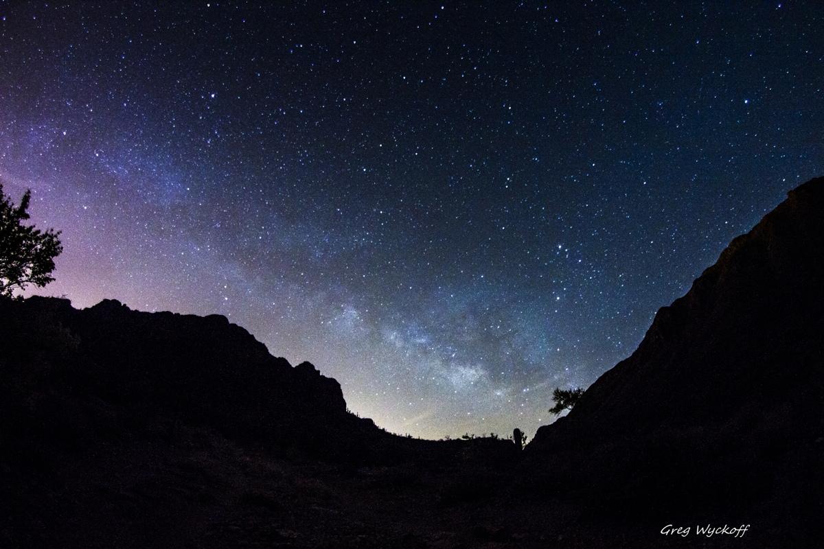 Milky Way Through Gates Pass, Arizona