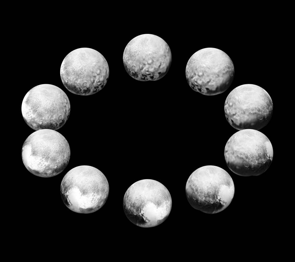 Rotation of Full Day on Pluto