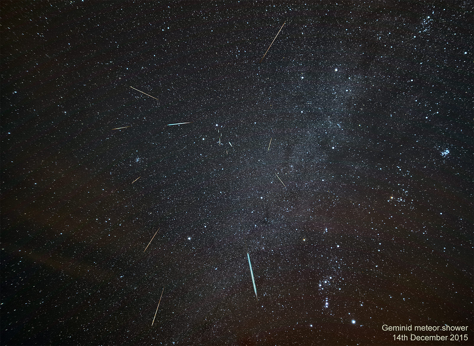 2015 Geminid Meteor Shower by Kevin Lewis