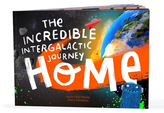 "Travel from outer space down to your real-life address with ""The Incredible Intergalactic Journey Home,"" a personalized picture book. <a href=""https://www.lostmy.name/en-US/books/thejourneyhome"">Customize and buy ""The Incredible Intergalactic Journey Home""</a>"