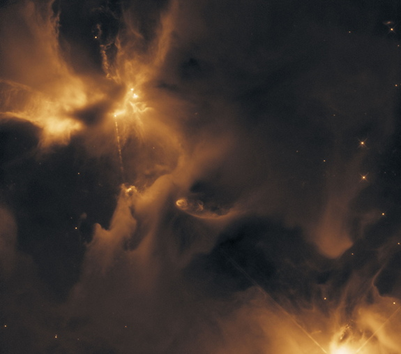 Another view of HH-24, taken by Hubble.