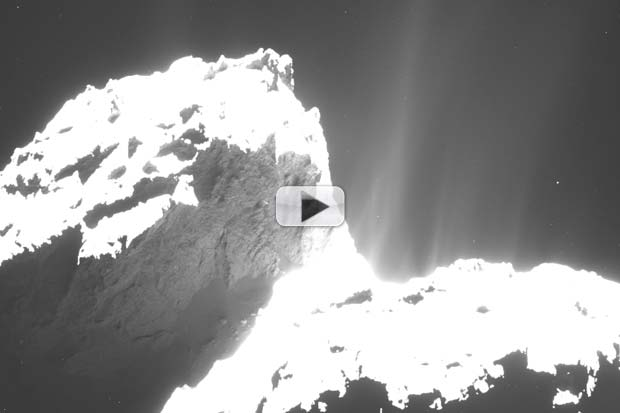 Active Spinning Comet Poses For Close-Up  | Video