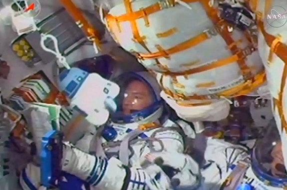 "A plush ""Star Wars"" R2-D2 keychain was chosen as the Soyuz TMA-17M crew's talisman and ""zero-g indicator"" in July 2015."